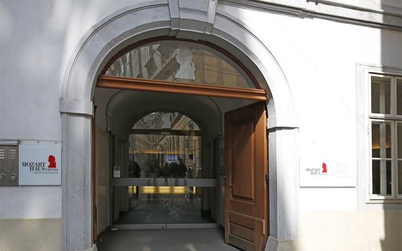 הכניסה למוזיאון מוצרט בוינה