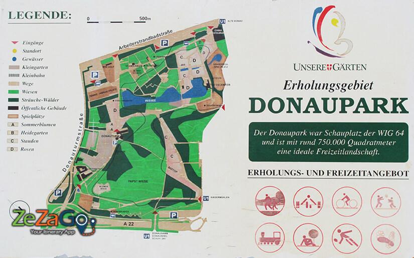דונאו פארק: פארק הדנובה - Donaupark