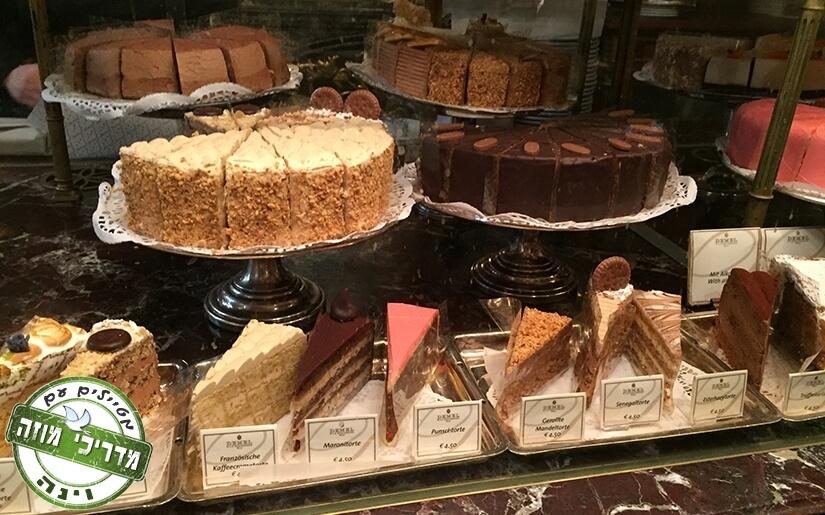 תצוגת עוגות מדהימה בקפה דמל (Demel) וינה