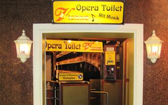 מוסיקה קלאסית בשירותים הציבורים של בית האופרה